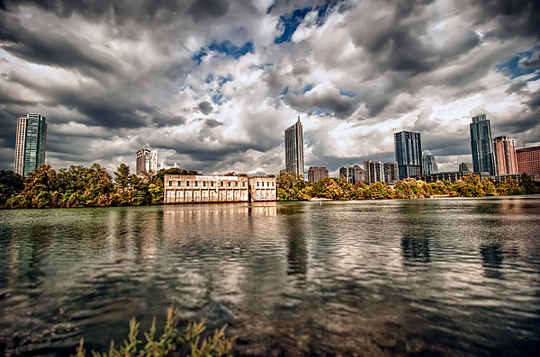Austin Photograph - Austin Skyline On Lady Bird Lake by John Maffei