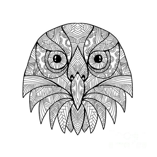 mandala digital art australian barking owl mandala by aloysius patrimonio