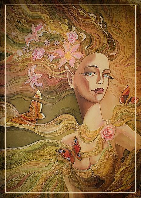 Impressionism Painting - automn by  Kulenjonok Lilia