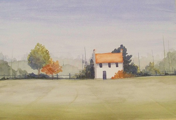 Watercolor Painting - Autum Day by Angela Sullivan
