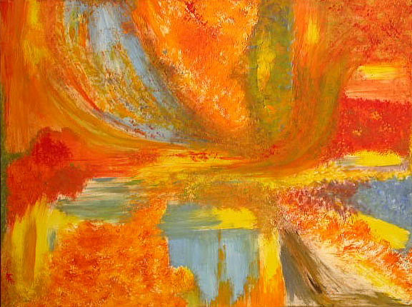 Abstract Painting - Autumn - Indian Summer by Rae Chichilnitsky