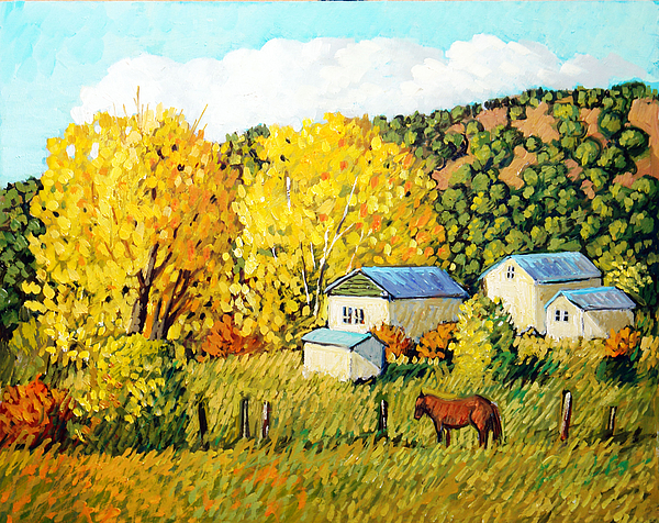 Southwest Painting - Autumn Afternoon by Donna Clair