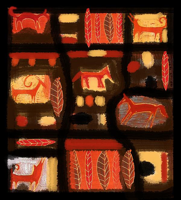 Animals Digital Art - Autumn by Aliza Souleyeva-Alexander