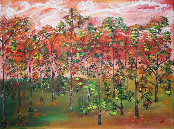 Fall Painting - Autumn Begins by James Bryron Love
