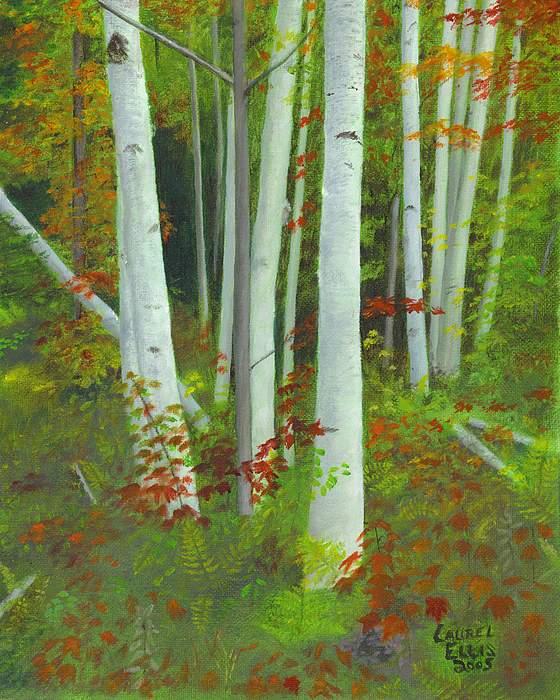 Landscape Painting - Autumn Birches by Laurel Ellis