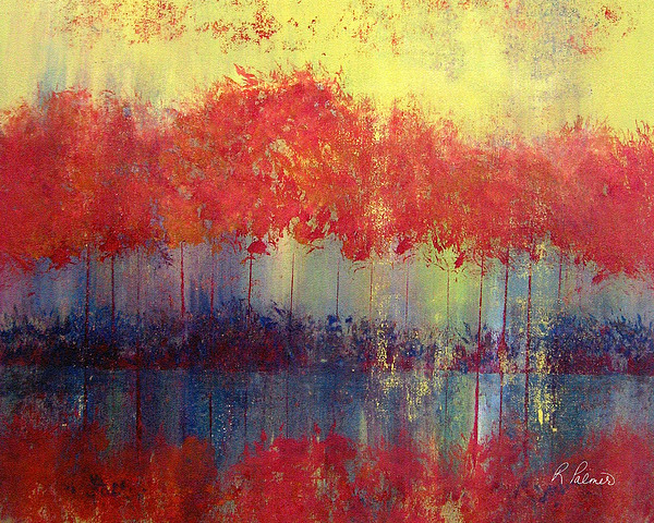 Abstract Painting - Autumn Bleed by Ruth Palmer
