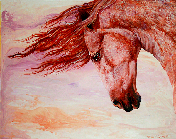 Horse Painting - Autumn Breeze by Sherry Shipley