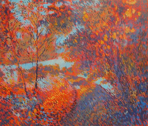 Landscape Painting - Autumn Colors by Andrey Soldatenko