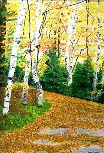 Landscape Painting - Autumn Colours by Lois  A Poulin