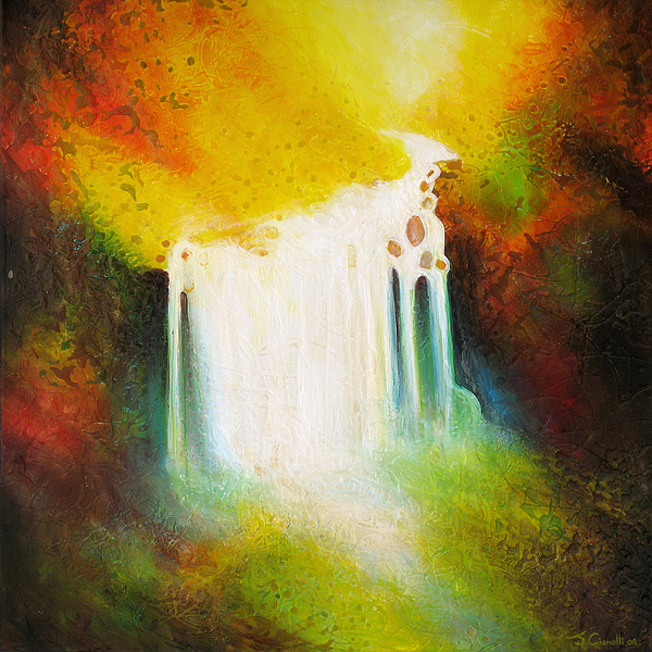 Waterfalls Painting - Autumn Falls by Jaison Cianelli