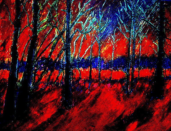 Autumn Painting - Autumn Flames 2 by Kent Whitaker