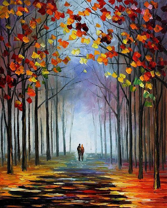 Afremov Painting - Autumn Fog by Leonid Afremov