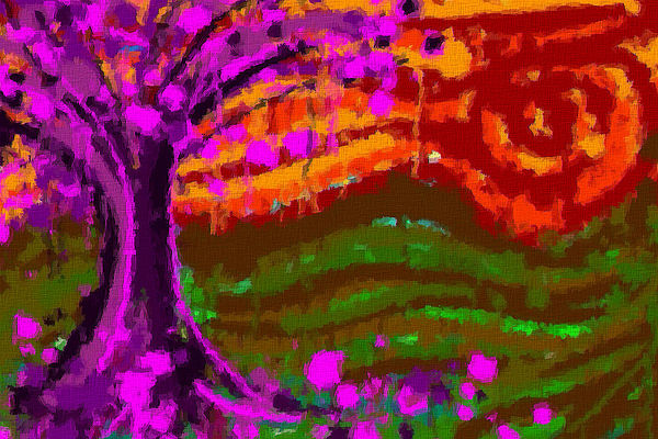 Tree Digital Art - Autumn Frenzy by Sandra Lock