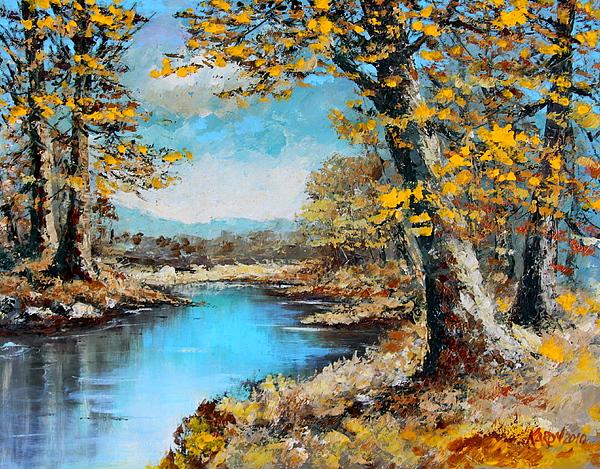Autumn Painting - Autumn Gold by Karon Melillo DeVega