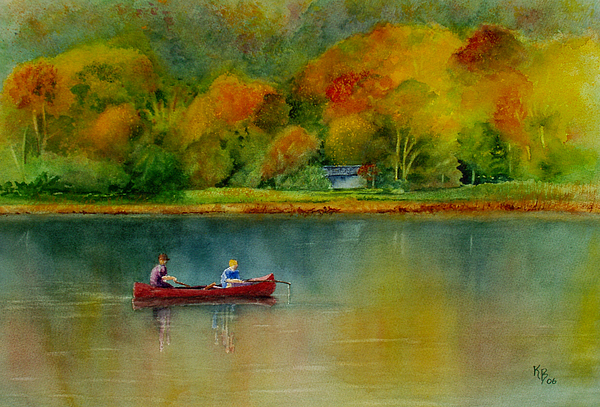 New England Painting - Autumn by Karen Fleschler