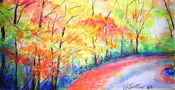 Autumn Painting - Autumn Lane Iv by Lizzy Forrester