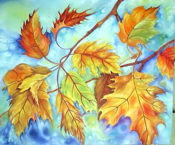 Autumn Leaves Painting - Autumn Leaves by Hafeez Shaikh
