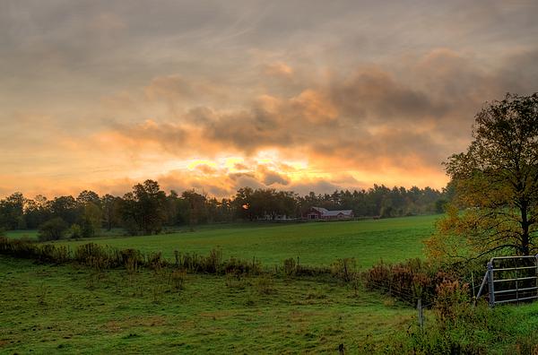 Farms Photograph - Autumn Morning by David Bishop
