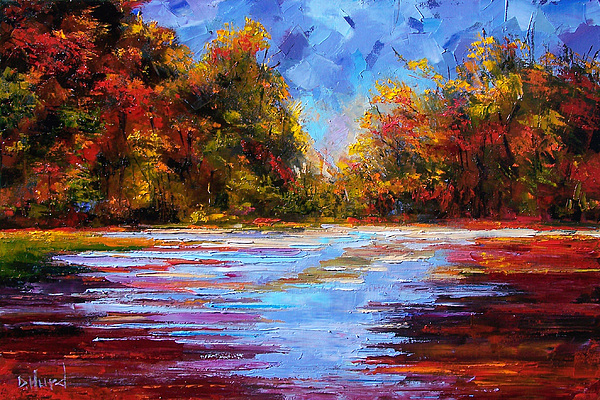 Fall Painting - Autumn Morning by Debra Hurd