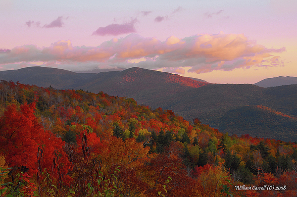 New Hampshire Photograph - Autumn Morning In New Hampshire by William Carroll
