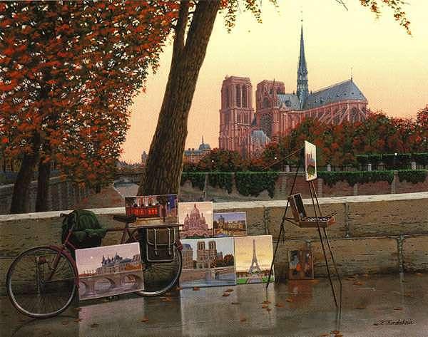 Paris Print - Autumn On The Seine by Liudmila Kondakova