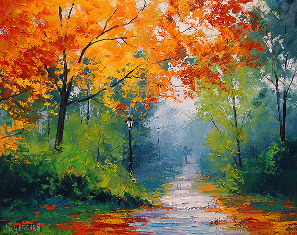 Fall Painting - Autumn Park by Graham Gercken