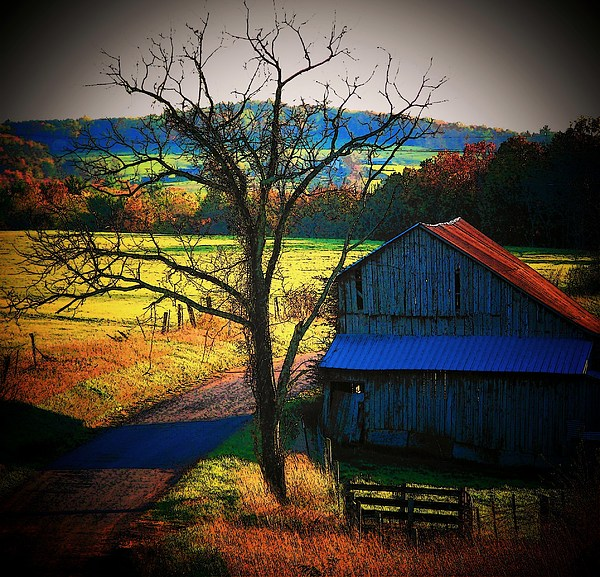 Barn Photograph - Autumn Romance by Joyce Kimble Smith