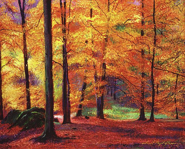 Autumn Leaves Painting - Autumn Serenity by David Lloyd Glover