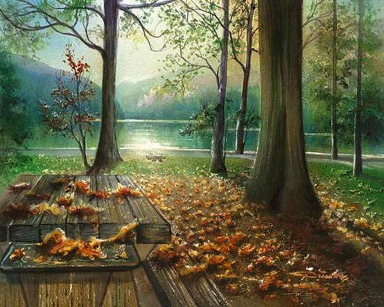 Original Watercolor Painting - Autumn Splendour by Dumitru Barliga