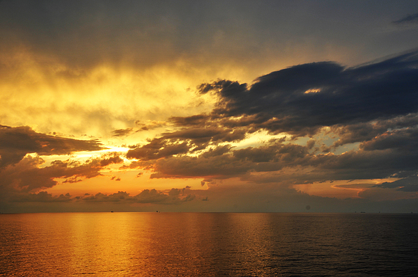 Landscape Photograph - Autumn Sunrise In The Gulf  by Bill Perry