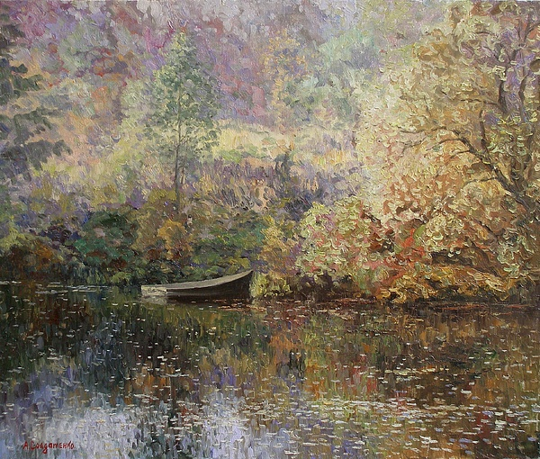Landscape Painting - Autumn Tenderness by Andrey Soldatenko