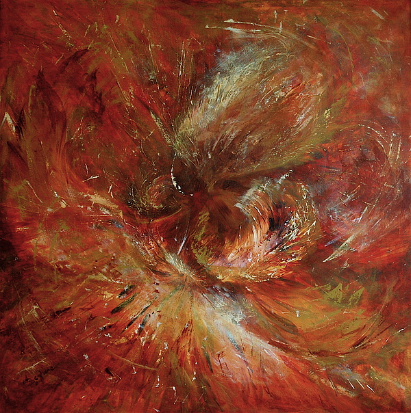 Abstract Painting - Autumn Wind by Aneta  Berghane