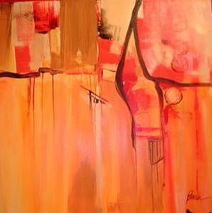 Abstract Expressionism Painting - Autumns Fire by Pamela Anderson