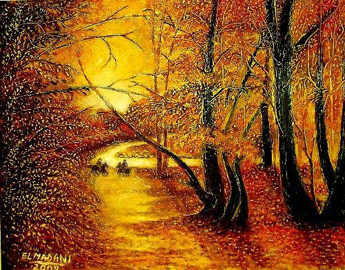 Autun In Rbayez Painting by Elmadani Belmadani