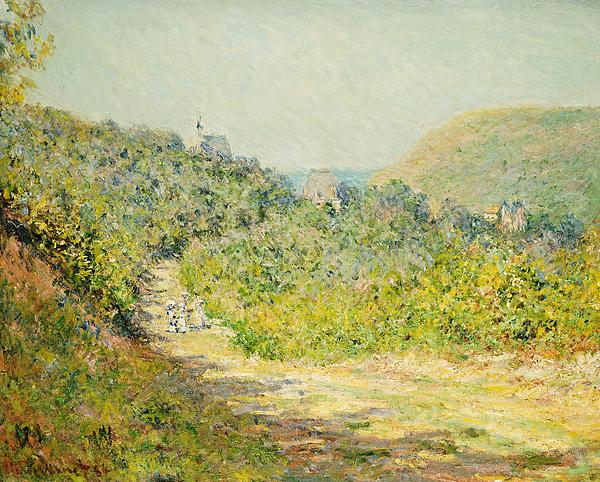 Claude Monet Painting - Aux Petites Dalles by Claude Monet