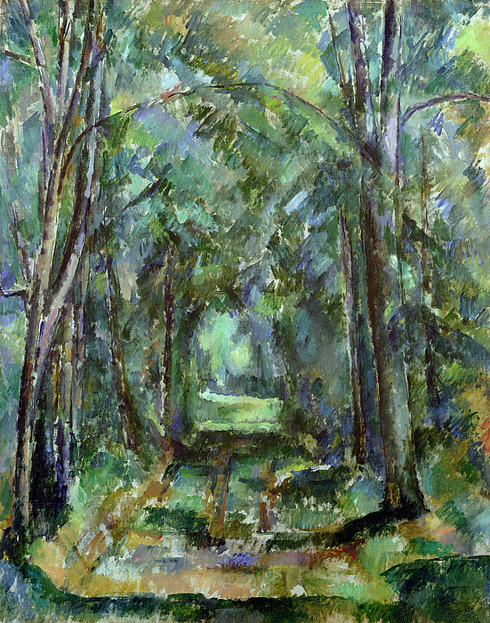 Avenue Painting - Avenue At Chantilly by Paul Cezanne