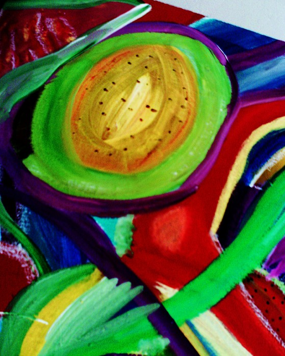 Heart Painting - Avocado  by HollyWood Creation By linda zanini