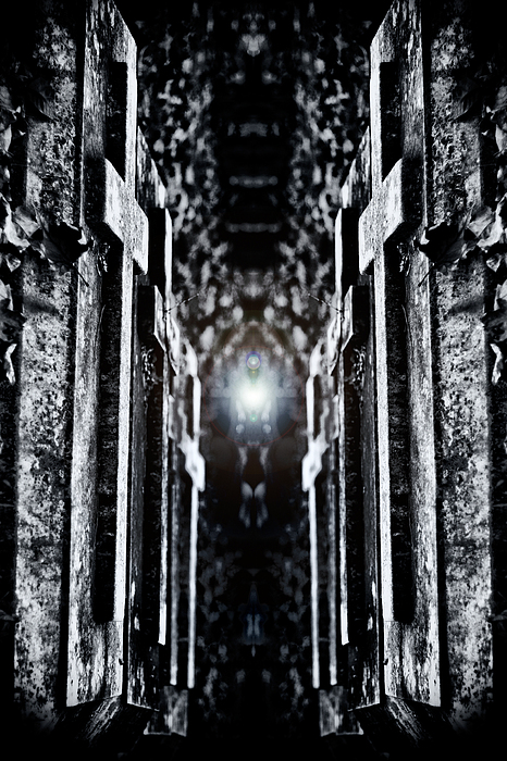 Cemetery Photograph - Awaits The Light by Scott Wyatt