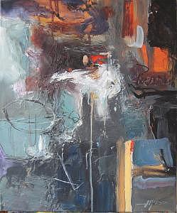 Abstract Painting - Awake  20 X 24 by David  McKee