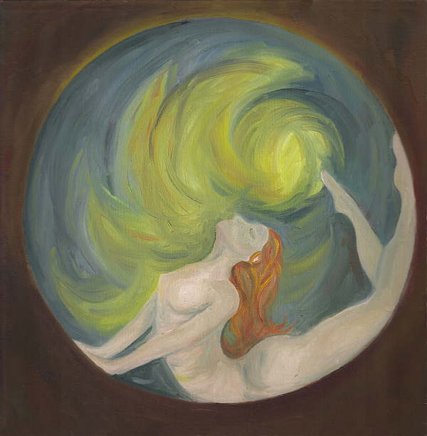 Woman Painting - Awaken by Stephanie  Broker