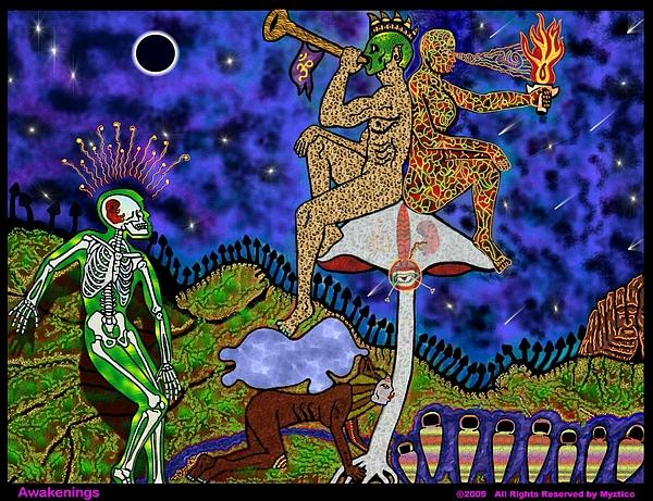 Soul Mixed Media - Awakenings by Myztico Campo