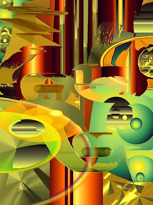 Abstract Digital Art - Awareness by Elsbeth Lane