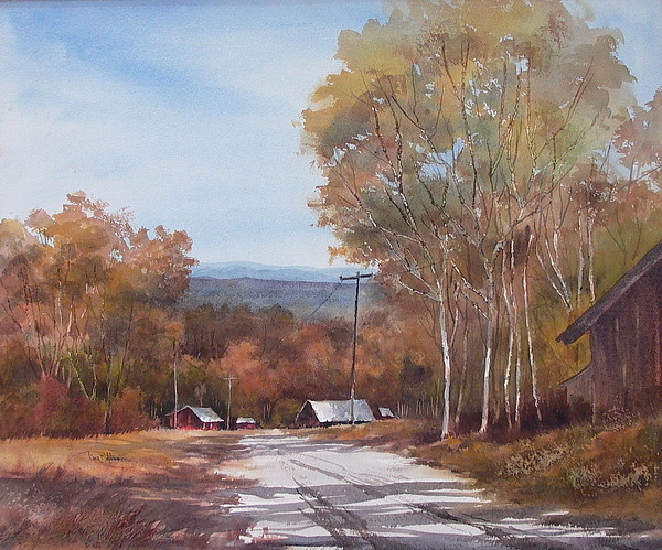 Landscape Painting - Awesome Autumn by Tina Bohlman