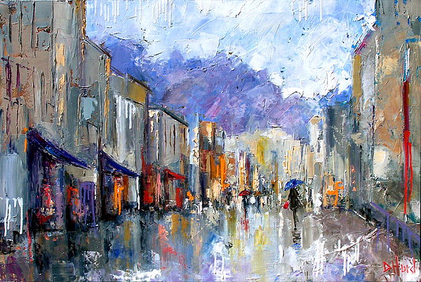 Architecture Painting - Awnings by Debra Hurd