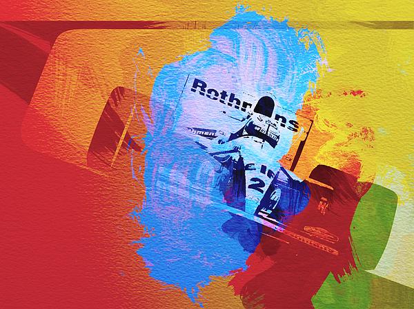 Ayrton Senna Painting - Ayrton Senna by Naxart Studio