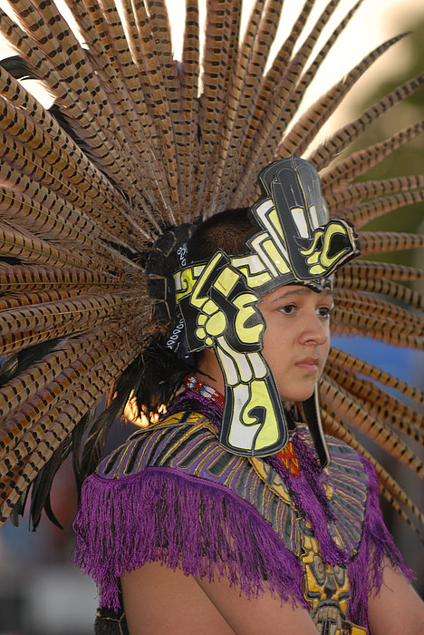 Dancer Photograph - Aztec Dancer by Dennis Hammer