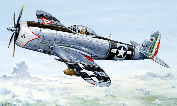 P-47 Painting - Aztec Eagle by Charles Taylor
