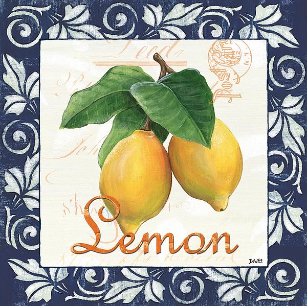 Lemon Painting - Azure Lemon 1 by Debbie DeWitt
