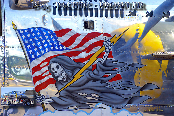 Arlington Photograph - B-25 Pacific Prowler Nose Art by Larry Keahey