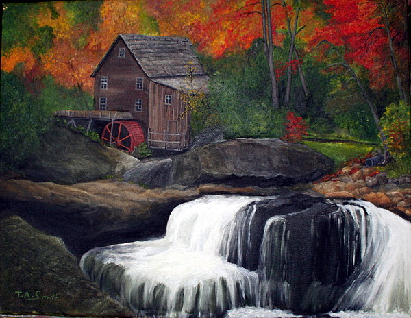 Grist Mill Painting - Babcock Mill by Timothy Smith